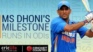 MS Dhoni's milestone runs: When and against whom they came