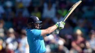 Ian Bell dismissed by Mohit Sharma