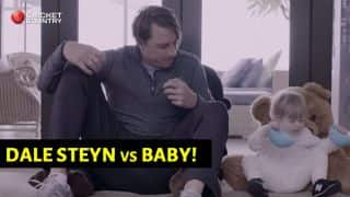 VIDEO: Dale Steyn vs baby, guess who won!