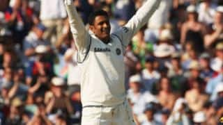 Anil Kumble scores his only century in Test cricket against England at The Oval