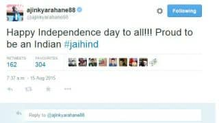 Suresh Raina, Ajinkya Rahane, other cricketers wish India Happy Independence Day