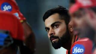 IPL 2017: Kohli livid after first-ball duck during RCB vs KKR tie