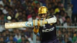 Uthappa, Pandey's splendid show helps KKR to 187/2