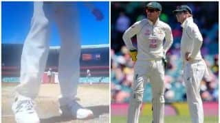 Steve Smith Lands in New Controversy, Caught Scruffing Rishabh Pant's Batting Mark to Damage Pitch During 3rd Test at SCG | WATCH VIDEO