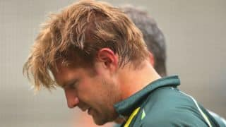 Shane Watson in distress after being hit by bouncer; Australia's training session ends abruptly