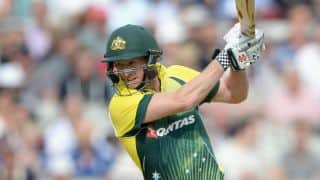 Aaron Finch, George Bailey complete 50 partnership for 3rd wicket during England vs Australia, 5th ODI at Old Trafford