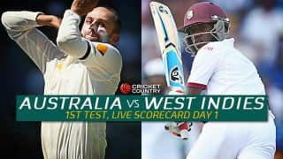 Live Cricket Scorecard: Australia vs West Indies 2015-16, 1st Test at Hobart, Day 1