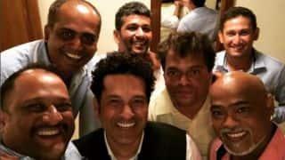 Photo: Sachin Tendulkar and his band of friends