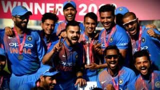 Indian cricket team wins 6th straight T20I series