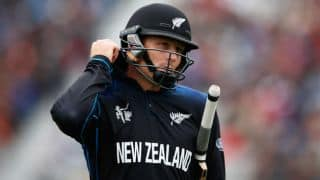 Martin Guptill dismissed by Sean Williams against Zimbabwe in one-off T20I at Harare