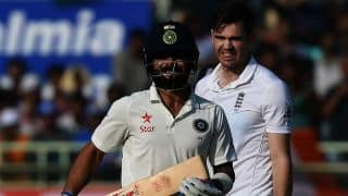 Virat Kohli, Ajinkya Rahane weather Stuart Broad, James Anderson's fiery spell