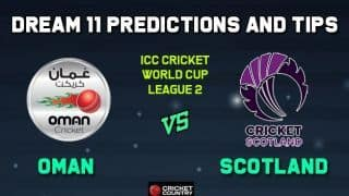OMN vs SCO Dream11 Team Oman vs Scotland, Match 4, ICC Men's Cricket World Cup League 2 – Cricket Prediction Tips For Today's Match OMN vs SCO at Aberdeen