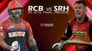 RCB vs SRH , IPL 2016 Final: Predictions and Preview