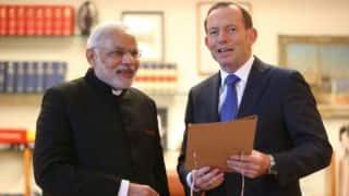 Narendra Modi, Tony Abbott bond over cricket