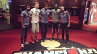 Ravichandran Ashwin, Shikhar Dhawan, Bhuvneshwar Kumar visit home of Miami Heat
