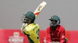 Live Scorecard Zimbabwe vs Australia 4th ODI at Harare: Zimbabwe Tri Series 2014