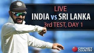 Live cricket score, India vs Sri Lanka, 3rd Test, Day 1: STUMPS