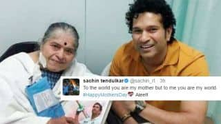 """To me you are my world"", tweets Tendulkar on Mother's Day; wishes pour in from cricket fraternity"