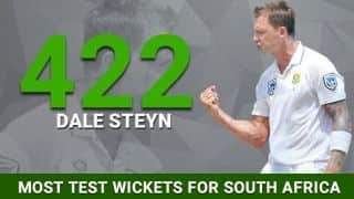 Dale Steyn surpasses Shaun Pollock as South Africa's leading wicket-taker