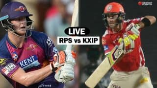 RPS 78/1 in overs 12, Live IPL 2017 score, RPS vs KXIP, IPL 10, Match 55: RPS win by 9 wickets; qualify for play-offs
