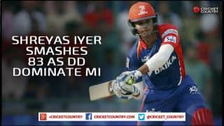 Shreyas Iyer, JP Duminy star as Delhi Daredevils score 190/4 against Mumbai Indians in IPL 2015