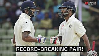 Shikhar Dhawan & Murali Vijay 6th Indian opening pair to score more than 1,000 runs in Test cricket