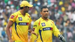 Chennai Super Kings (CSK) vs Kings XI Punjab (KKR) Live Scorecard IPL 2014: Match 3 of IPL 7 at Abu Dhabi