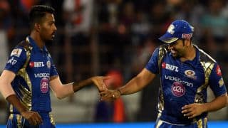 "IPL 2018: Rohit Sharma asks Mumbai Indians 'why Hardik Pandya's hair is on fire""'"