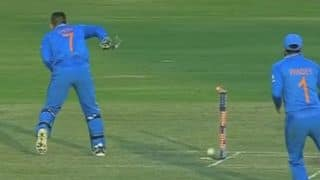 Watch 'magical' MS Dhoni's stunning act to run out Ross Taylor