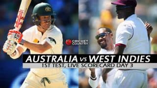 Live Cricket Scorecard: Australia vs West Indies 2015-16, 1st Test at Hobart, Day 3