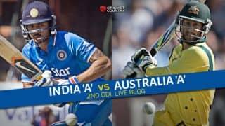 Live Cricket Score India A vs Australia A, Triangular Series 2nd match at Chennai IND A 215 all out: All-round Australia A thrash hosts by 119 runs