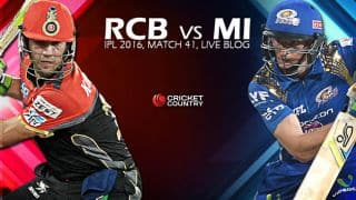 MI 153/4 in Overs 18.4 | Live Cricket Score Royal Challengers Bangalore (RCB) vs Mumbai Indians (MI), IPL 2016, Match 41 at Bengaluru: MI win by 6 wkts