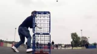 England stars lose a street cricket match to a local team