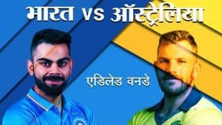 India vs Australia 2nd ODI, Adelaide: Live Update