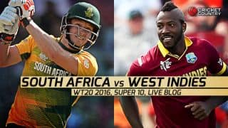 WI 123/7 | Overs 19.4 | Live Cricket Score West Indies vs South Africa, T20 World Cup 2016, 27th Match at Nagpur: West Indies win by 3 wickets