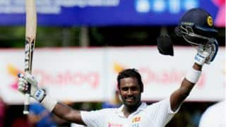 Angelo Mathews stands between India and series win against Sri Lanka at lunch on Day 5 of 3rd Test at Colombo (SSC)