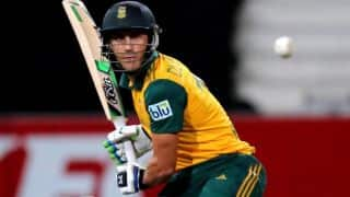 New Zealand vs South Africa 2014: Faf du Plessis brings up 11th ODI fifty