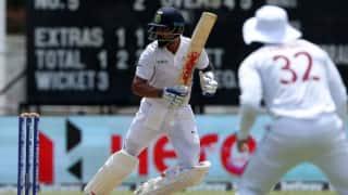 जमैका टेस्ट: मयंक और कोहली के अर्धशतकों से भारत ने टी तक 3 विकेट पर 157 रन बनाए