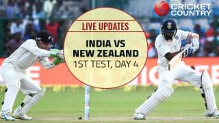 IND 256/4, lead by 313 | IND vs NZ Live score, 1 Test, Day 4: India in command