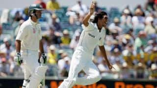 Ishant Sharma serves his first big notice on international arena