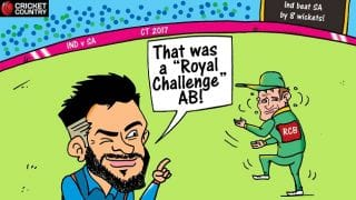 Cartoon: That was a 'Royal Challenge' AB!