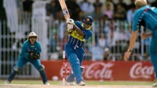 World Cup 1996 quarter-final: Sanath Jayasuriya's 44-ball 82 sends shell-shocked England packing