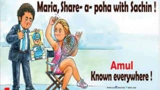 Amul's ad about the Sharapova-Tendulkar incident