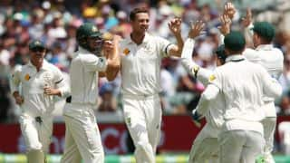 New Zealand capitulate to 98/5 against Australia on Day 1 of first-ever day-night Test at Adelaide