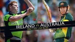 Live Cricket Score Ireland vs Australia 2015, one-off ODI at Belfast: Ireland 157 | 23.4 Overs