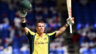 David Warner's hundred helps Australia post 288-6 vs South Africa in Match 4 of Tri-Nations Series