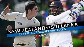 Live Cricket Scorecard: New Zealand vs Sri Lanka 2015-16, 1st Test at Dunedin, Day 5