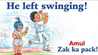 Zaheer Khan retires: Amul pays tribute to the Indian pacer