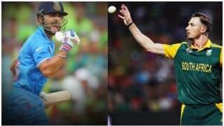 Virat Kohli does one handed push ups; Dale Steyn trolls him
