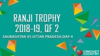 Saurashtra steady in chase of 373 vs Uttar Pradesh